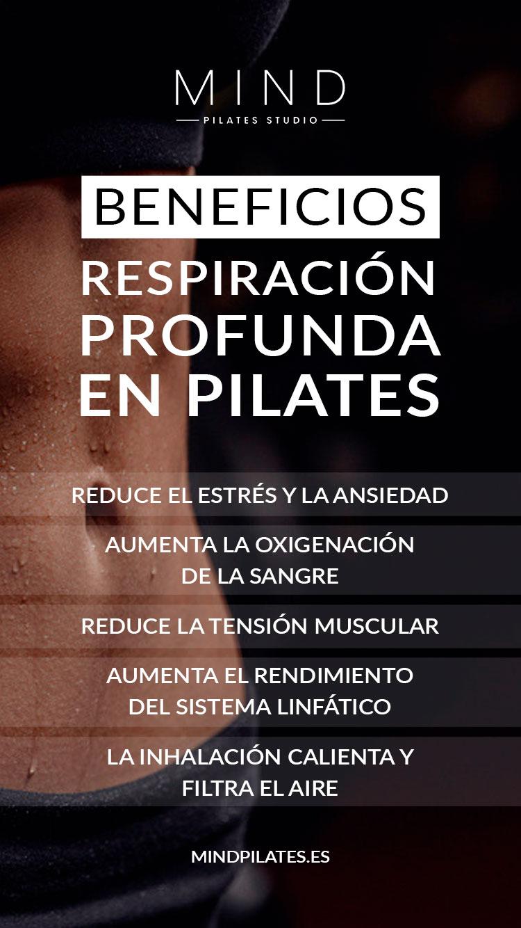 Beneficios respiración profunda en Pilates