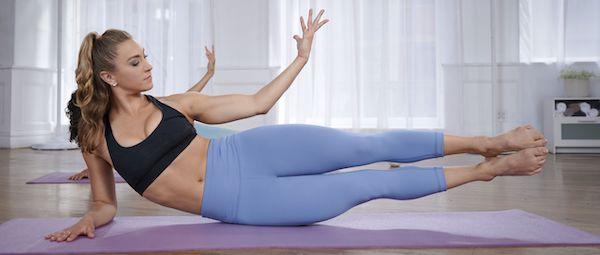 XB Pilates - mujer con leggings